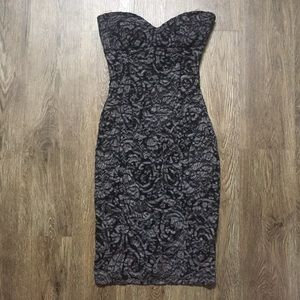 Mystic Black & Grey Sweetheart Dress Size S